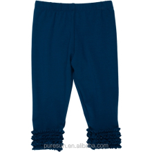 Wholesale children girls ruffle legging high quality baby girls pants