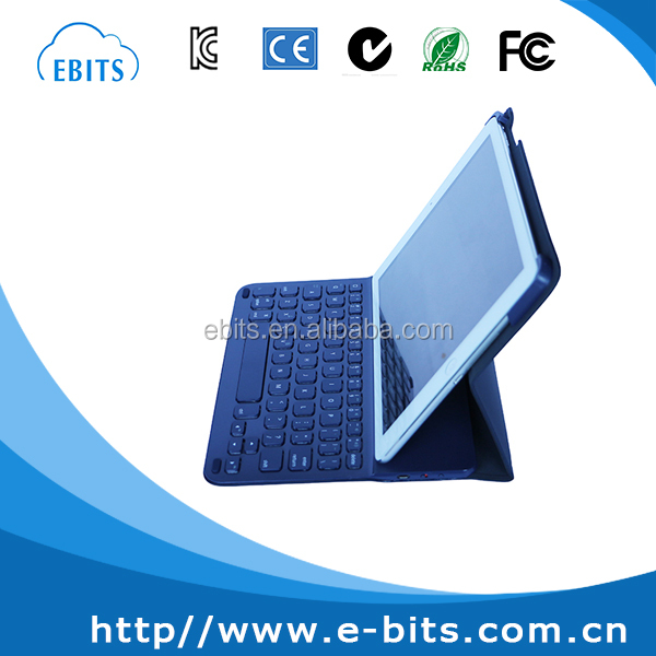 Universal bluetooth leather case tablet pc rechargeable keyboard for ipad
