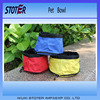 three colours for choice portable wholesale folding travelling dog bowl