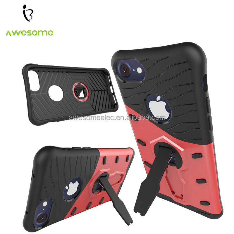 (NEW Arriving) For iPhone 7 mobile phone case, Red color phone case, kickstand case