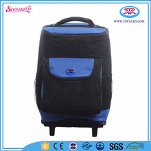 custom polyester blue trolley wine cooler bag for wine