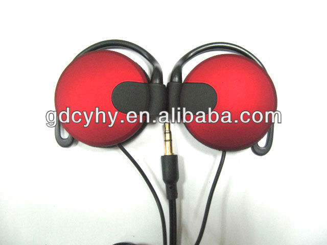 High-end sound performance comfortable stylish stereo clip-on mp3/mp4 earphone, earpiece, headset