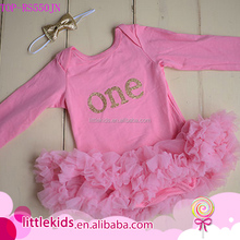 Baby pink tutu Cake smash dress romper onesie sequin gold one first birthday outfit skirts petti romper