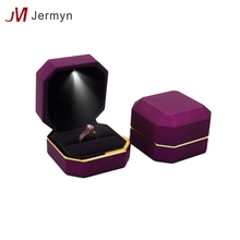 Factory stocks small quantity retail led light jewelry packaging box