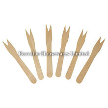 French Fries Forks Wood