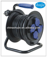 VDE Plug 40M Industrial Equipment electric extension cable reel with socket outlet switch UK standard