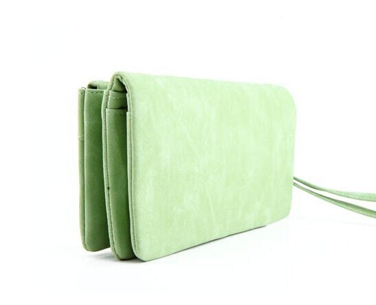 Unisex latest popular canvas security zipper card wallet