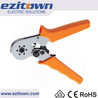 Ezitown HSC8 6-6 Crimping capacity 0.25-6.0mm2 mini self adjustable ferrule crimping tool cable lug crimp crimping pliers