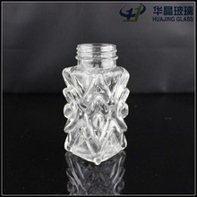 60ml fancy square spices cut glass pepper salt shaker bottle with screw cap wholesale high quality cheap