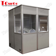 Portable Interpreter Isolation Booths with Interior LED Lighting