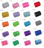 100% Polyester double line tulle roll 6 inch * 100 yards tulle spool DIY decoration material