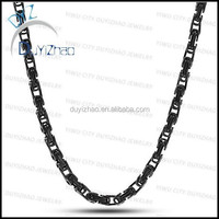 mens stainless steel chain necklace black chain necklaces