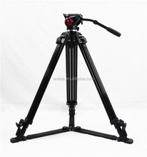 Ereise 1.8M Professional Black with Fluid Head Aluminium Video Tripod