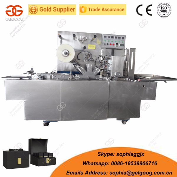 Packing Dimensions Available Tea/Cosmetic/Medicine Boxes Cellophane Packing Machine