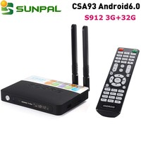 2017 new hot product csa93 android 6.0 tv box octa core amlogic s912 csa93 install google play store android tv box