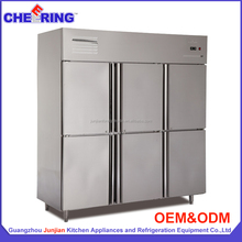 Stainless steel commercial freezer and chiller for kitchen with CE approval