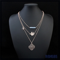 different Mexico types of gold jewellery pendant necklace chains jewelry designs simple long beaded necklace with pendant