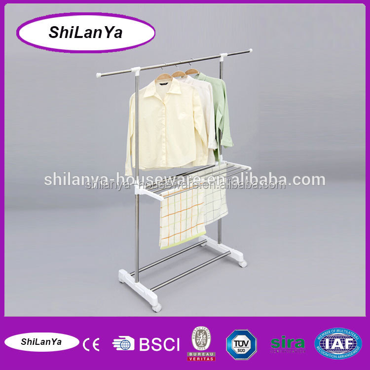 stainless steel supreme free standing trousers rack