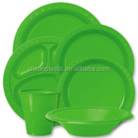Party items Disposable plastic plate for general occasions/theme party
