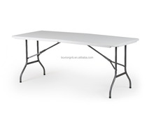 6-Foot plastic fold-in-half table with safty lock