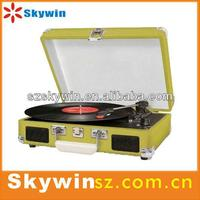wholesale smart new arrive belt drive product retro wooden turntables / vinyl records with cassette