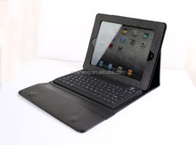 Genuine Leather Case Cover With Bluetooth Keyboard/Stand For Ipad 1&2 Black