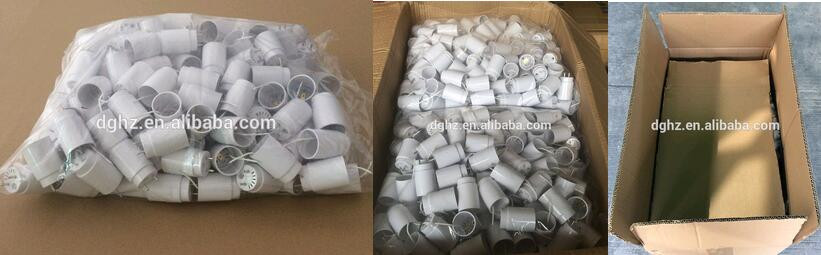T8 elliplic LED End Cap Pins with Tube Housing Body PC Plastic T8 to T5 Lamp base