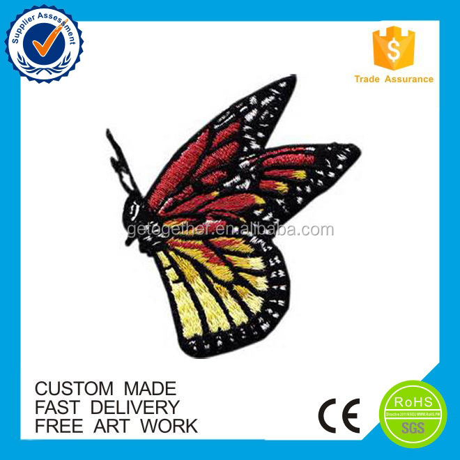 high quality Custom butterfly Embroidered Patches