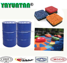 Manufacturer polyurethane glue pu resin for epdm rubber granules /recycle rubber granules /rubber tiles