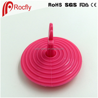 Pink cute Silicone hole plug drains sink liquid cover
