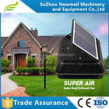 SuperAir 12w24v roof solar panel DCattic exhaust fan for house/industry
