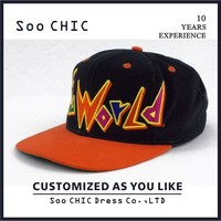 Wholesale embroidery flat brim cheap custom caps snapback