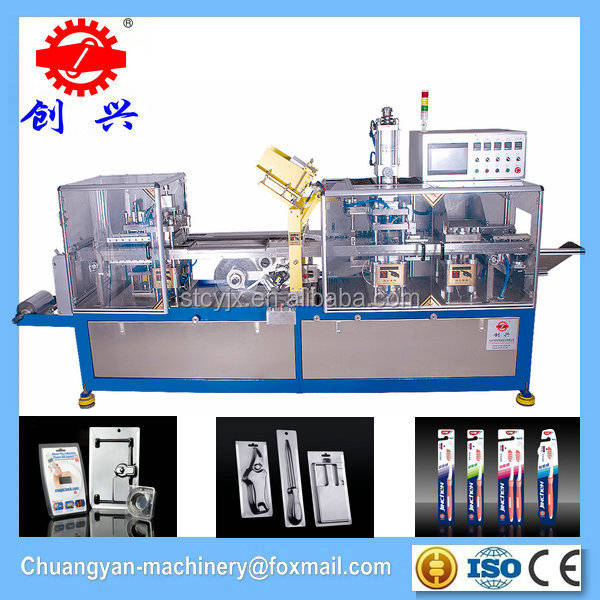 Automatic packing machine for tooth brush blister PVC PET