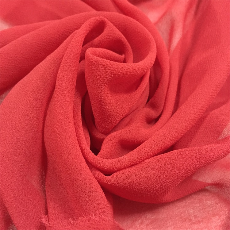 China fabric supplier 150cm plain dyed 100% T bulk chiffon fabric for sale