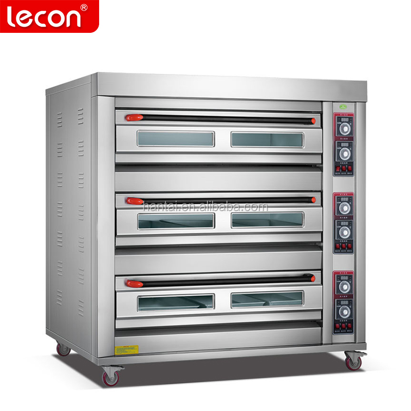 Industrial 3 Deck 9 Trays Bakery Bread Electric Oven For Sale