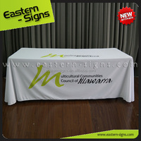 Full Color Trade Show Advertising Printed Stretch Custom Table Cloth