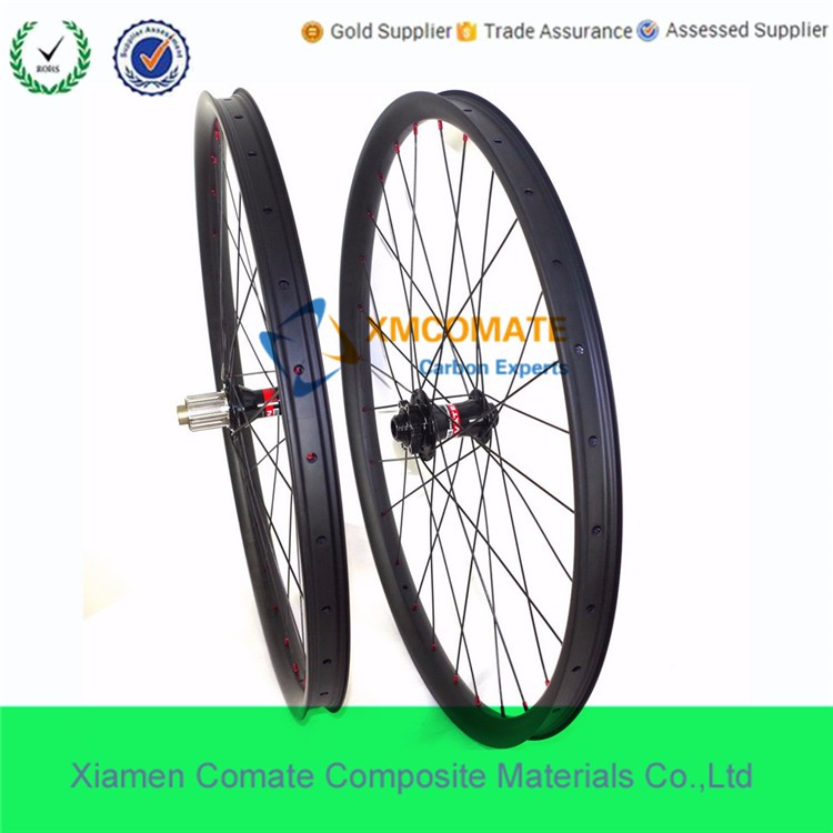 Carbon MTB Bike Wheels 27.5er Plus Wide 40mm Width 650B Boost Hub Front 110mm Rear Hub148mm Mountain Bike Wheels/XMCOMATE