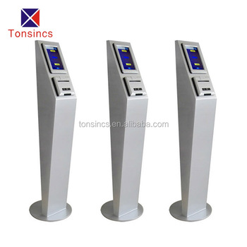 CE FCC queue ticket kiosk from 16 years tonsincs factory manufacturer