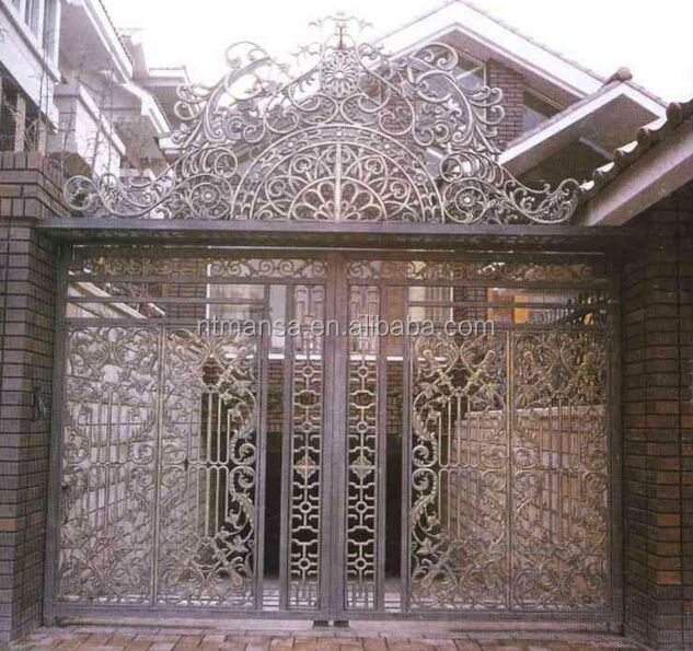 Luxury wrought iron grill main gate design. Luxury wrought iron grill main gate design  View gate Design