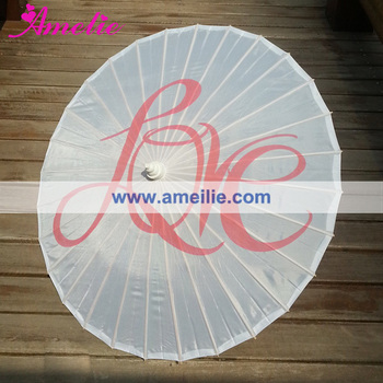 Love printed nylon fabric parasol
