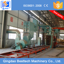 100% newest roller bed convey type shot blasting machine