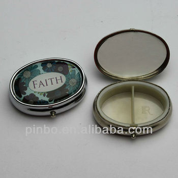 Oval Metal Pill Container