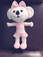 wholesale pink lovely mouse stuffed plush toy for girl
