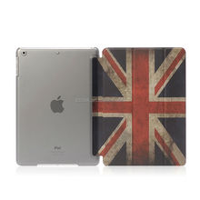 Union Jack image water paste injection whole PC PU cover for ipad mini case custom