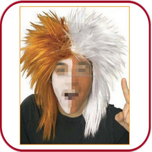 Orange/white spike halloween wig PGW-1733