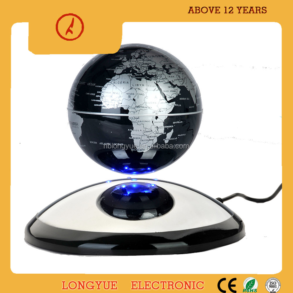 High-tech rotating 360 degree semicircle base mase load weight 300g magnetic floating globe