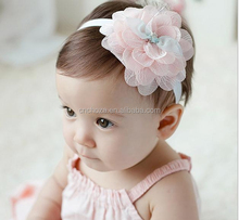 Z56051A Korean fashion children hair accessories wholesale Sweet baby lace flower hair band Baby Girls Hairbands