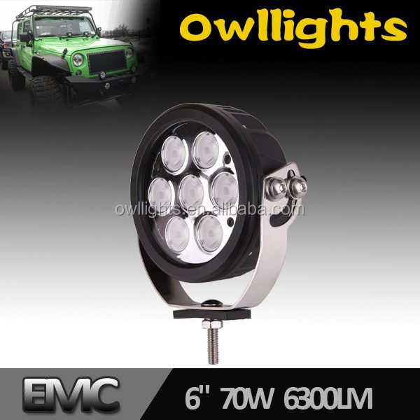 Large-Scale China Supplier New Product 70w LED Driving Lights Round 7 Inch for Off Road 4x4 SUV Tractor Truck