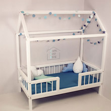 Cheap price kids white wooden toddler bed for UK market