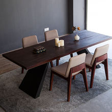 China supplier japanese oak wood rustic dining table for sale